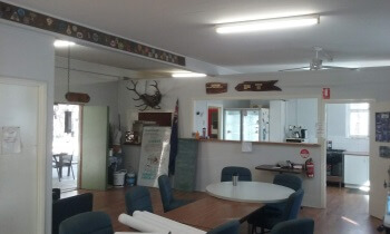 A photo the inside of the club house after it was repainted