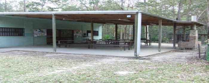 A photo of the Pergola extension that was added to the club house