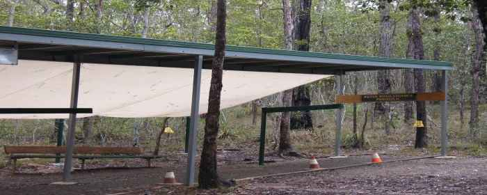 A photo of the Peter Roulstone Pergola on the practice range